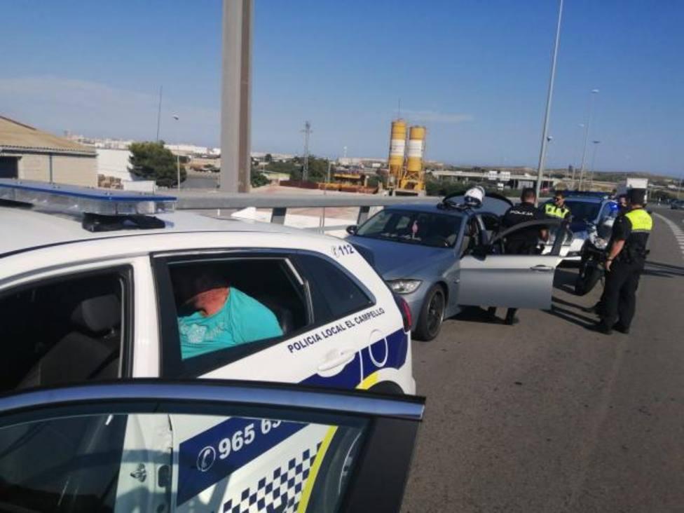 Detenido tras una espectacular persecución policial entre El Campello y Bacarot