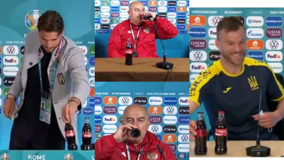 Varios jugadores responden a Cristiano Ronaldo y Pogba tras retirar las botellas en la rueda de prensa