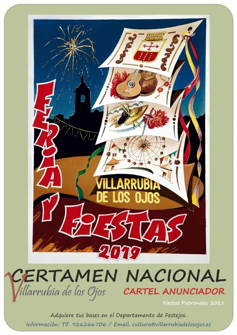 El concurso para elegir el cartel anunciador de las fiestas de Villarrubia de los Ojos incluye un premio de 400 euros