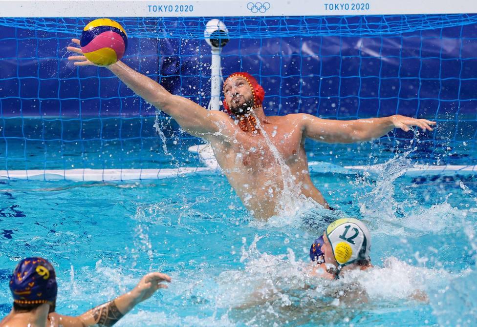 La Seleccion Española Masculina de Water Polo gana a Australia en su partido de los JJOO de Tokio