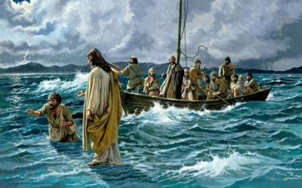 """""""Señor, si eres tú, mándame ir hacia ti andando sobre el agua"""""""