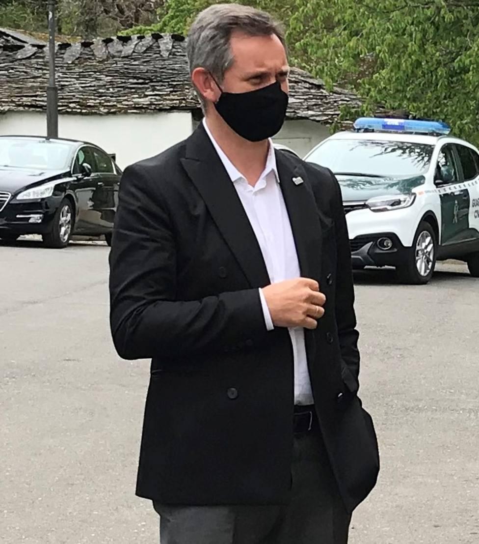 José Miñones durante una visita a la provincia de Lugo