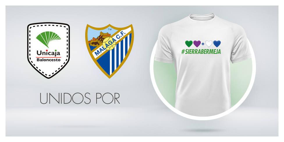 Imagen corporativa que los dos clubs lanzaron para recuperar Sierra Bermeja.