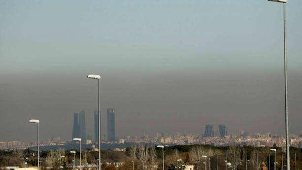 La boina de contaminación en Madrid. EFE