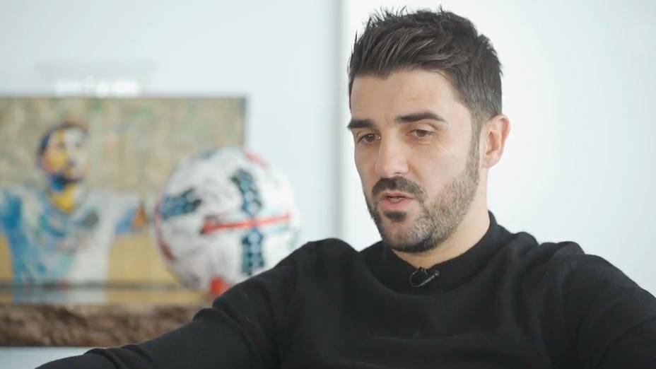 David Villa, durante la entrevista en la que revela que deja el New York City
