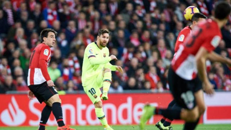 Leo Messi, ante el Athletic (@LaLIga)