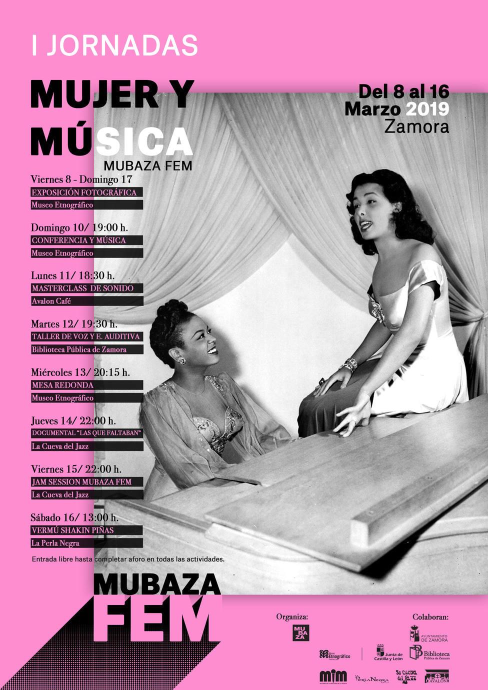 """I Jornadas Mujer y Música MUBAZA FEM """""""