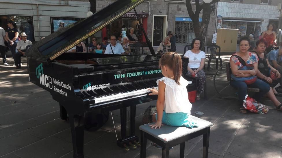 Piano de cola en la calles de Barcelona