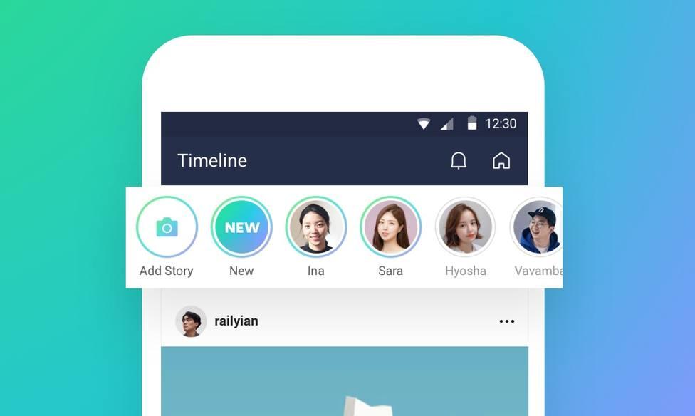 La app de mensajería LINE añade las Stories de contenido efímero