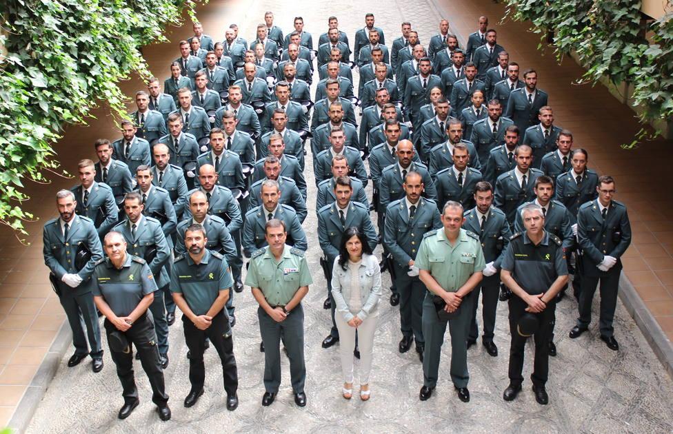 La Guardia Civil De Granada Recibe A 84 Nuevos Guardias Civiles