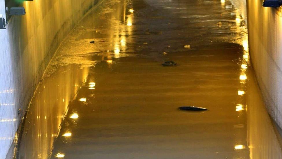 Trabajos en túnel de Almería donde ha fallecido una persona