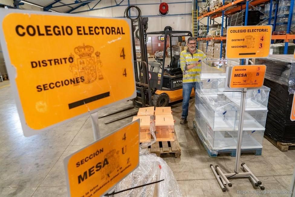 600 Urnas y 95 edificios electorales en Cartagena para este domingo