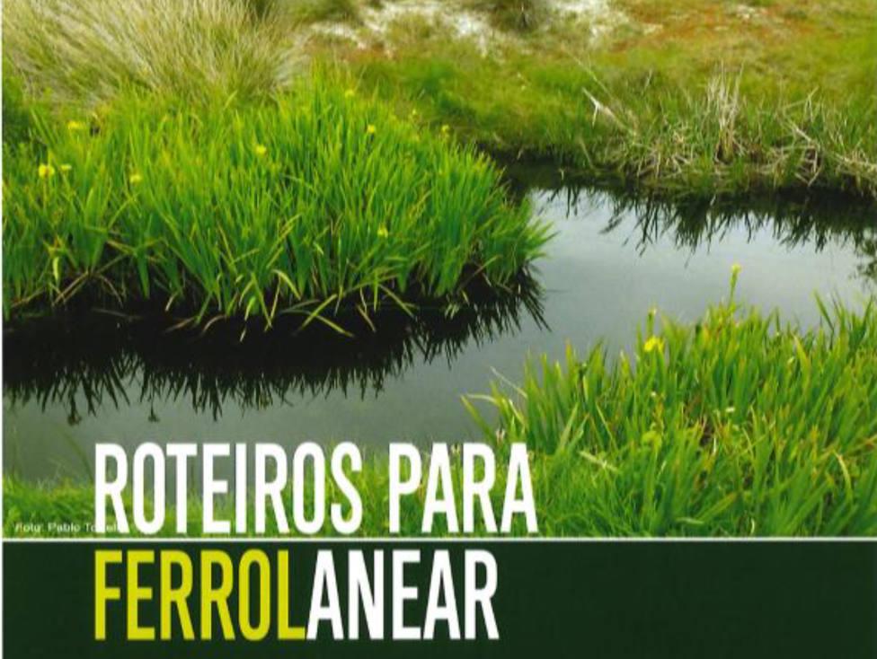 Cartel de la propuesta de rutas por Ferrol - FOTO: Celia Ferández Alvariño