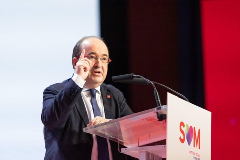 Miquel Iceta elogia a ERC por su apuesta inequívoca por el diálogo