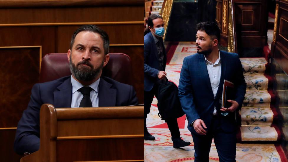 La firme amenaza de Abascal a Rufián por sus críticas al destituido Pérez de los Cobos