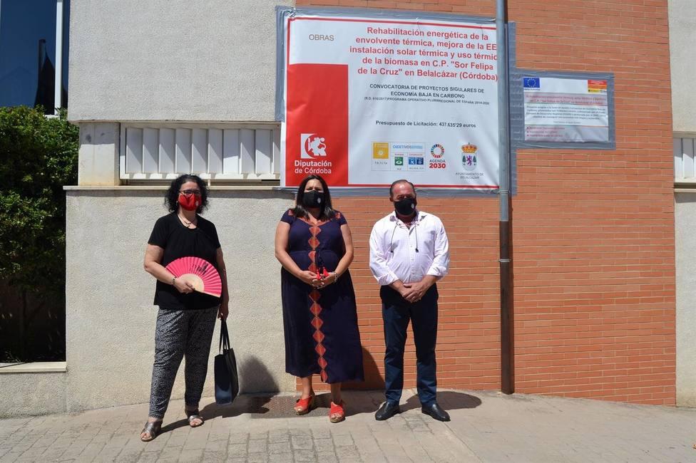 Belalcázar renueva las instalaciones para uso térmico de biomasa en el CEIP Sor Felipa de la Cruz
