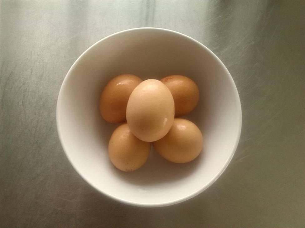 Foto de cinco huevos en un bowl (Europa Press)