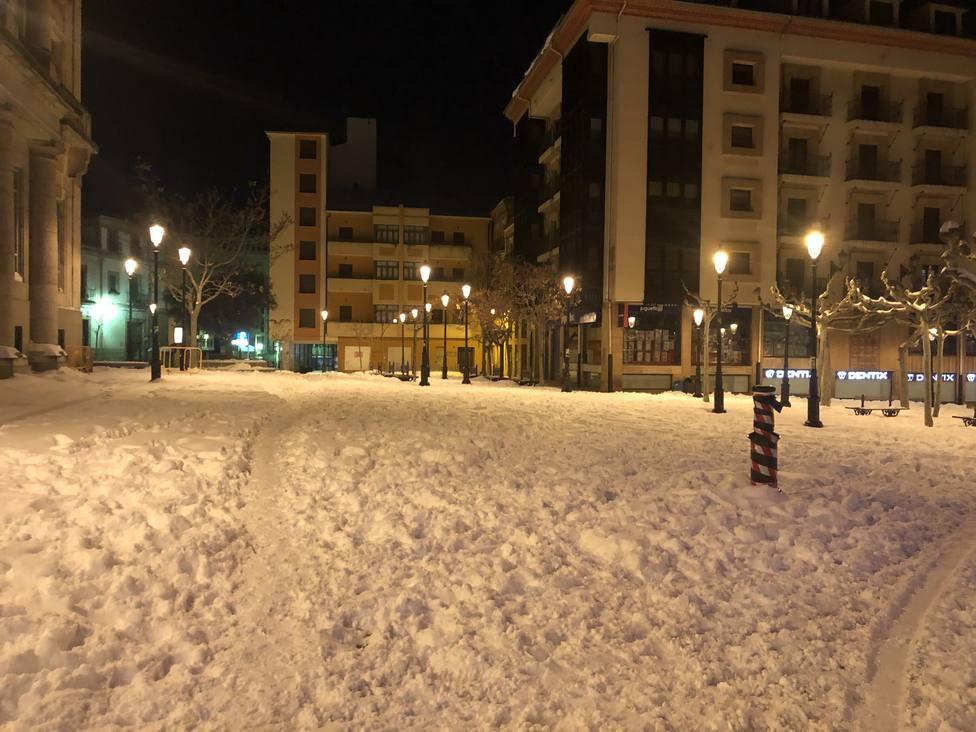 La nieve y el hielo cubren la capital soriana