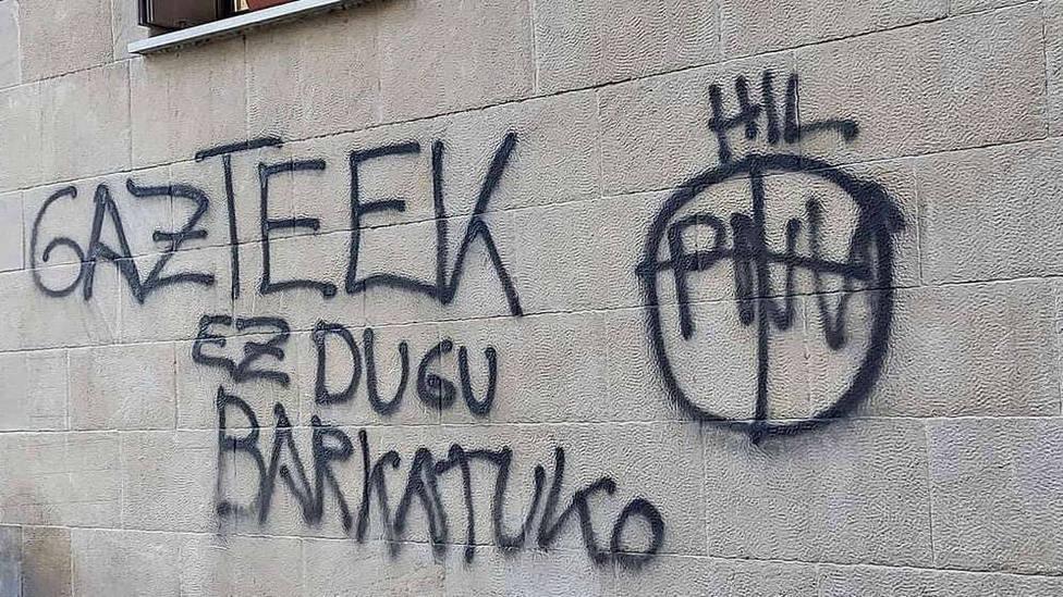 Nuevas pintadas amenzantes contra los contra el PNV y la Ertzaintza