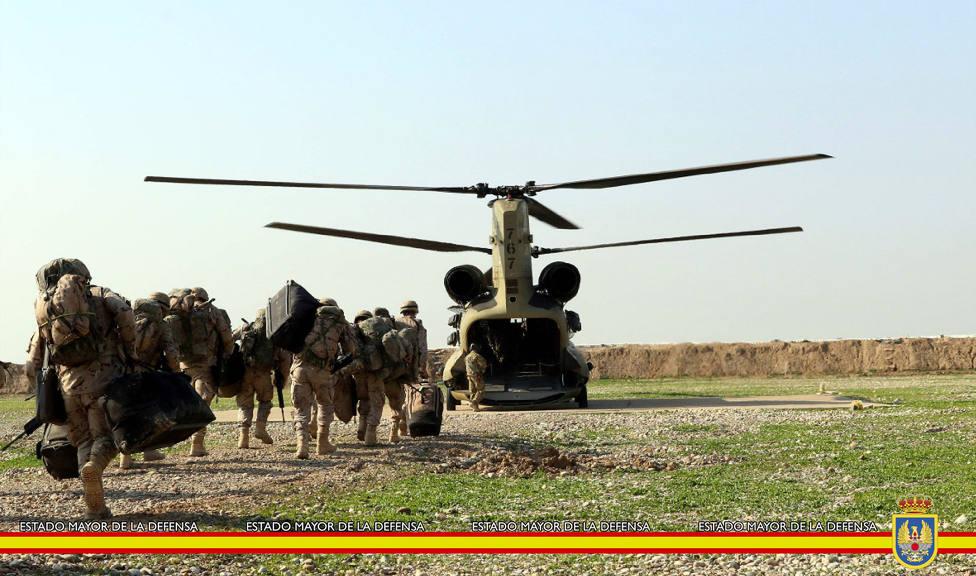 Militares españoles desplegados en Irak