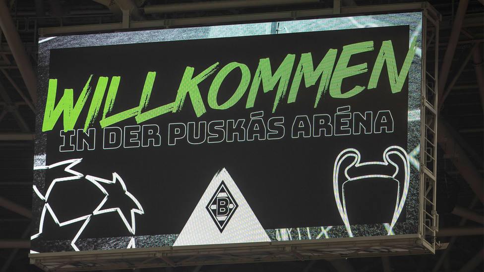 Imagen del videomarcador del Puskas Arena. CORDONPRESS