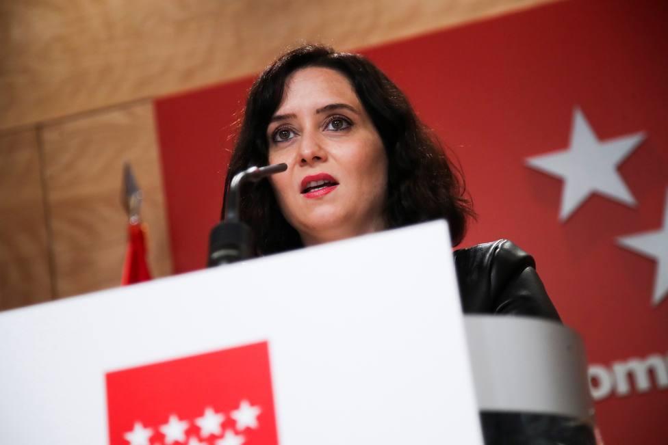 Ayuso ha pedido que se respete el acto de VOX en Vallecas porque tiene derecho a pedir el voto