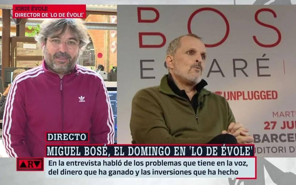 Jordi Évole aclara cómo fue su tira y afloja con Miguel Bosé antes de la entrevista: No hacía falta