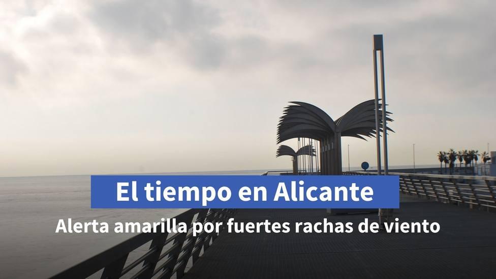 Alerta amarilla por viento en el litoral de Alicante