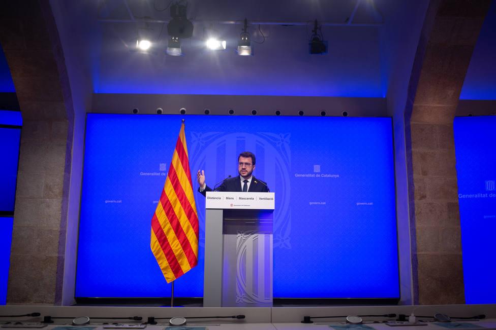 Aragonès pide al Gobierno tomar la decisión más justa lo antes posible sobre los indultos