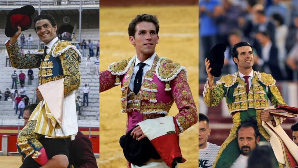 Pablo Aguado, Ginés Marín y Emilio de Justo