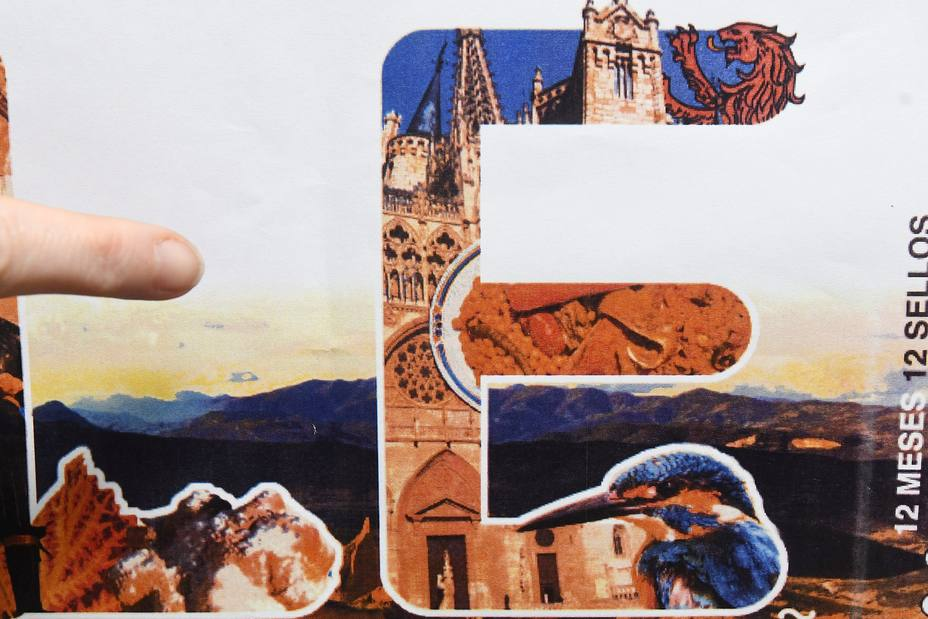 Sellos de Correos dedicado a León con la catedral de Burgos
