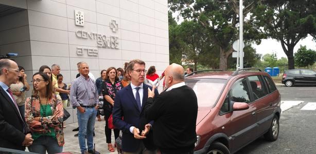 Alberto Núñez Feijóo inauguró esta mañana el centro de salud de Ares de manera oficial