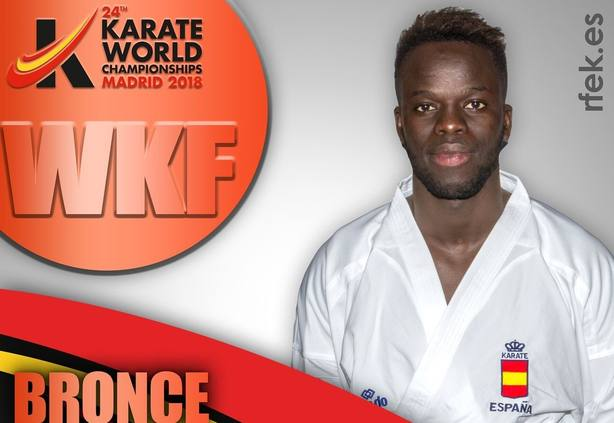 Babacar Seck inaugura con un bronce la cosecha española en el Mundial de karate