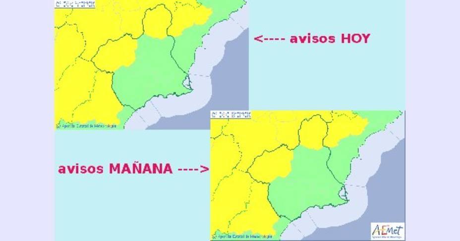 Entra una masa de aire polar que hará caer mínimas en Murcia por debajo de los 0º
