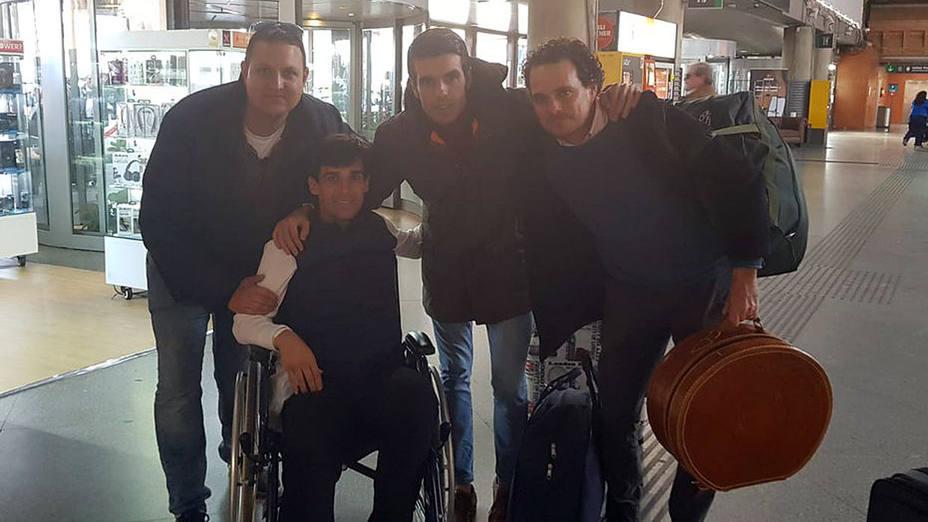 Manuel Ángel Gómez Odero junto a Emilio de Justo y el empresario Alberto García