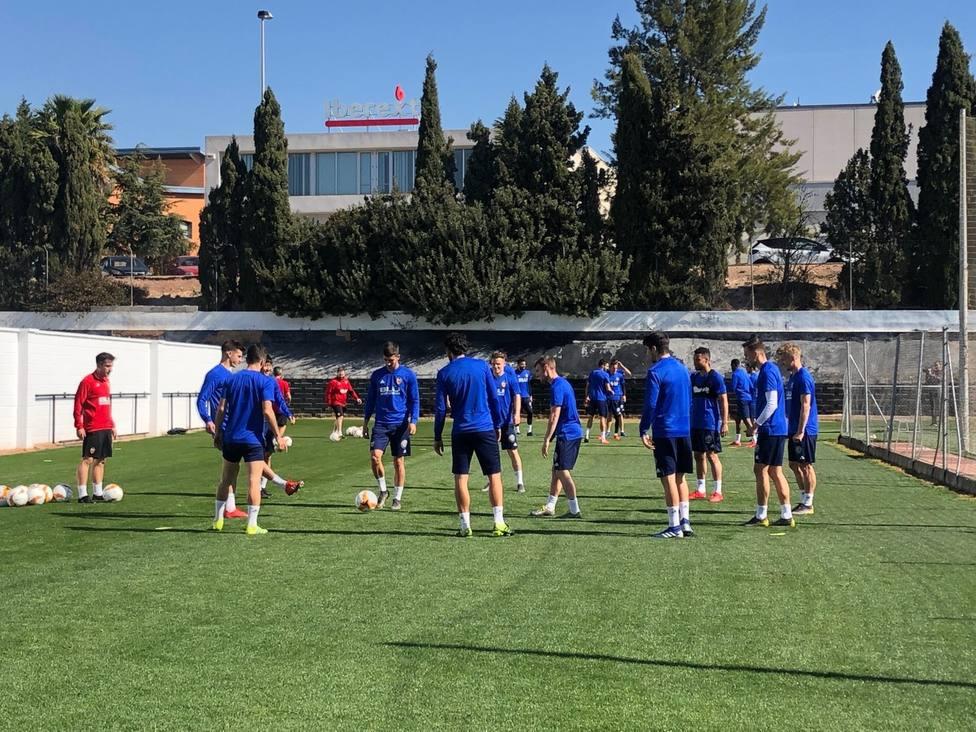 El equipo ha realizado esta mañana la última sesiíon de trabajo en Paterna.