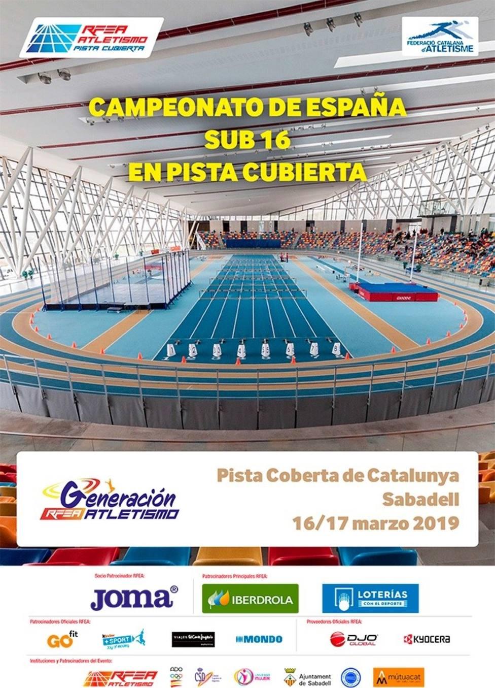 6 atletas de la comarca, compiten este fin de semana en el Nacional de Atletismo sub16 de Sabadell