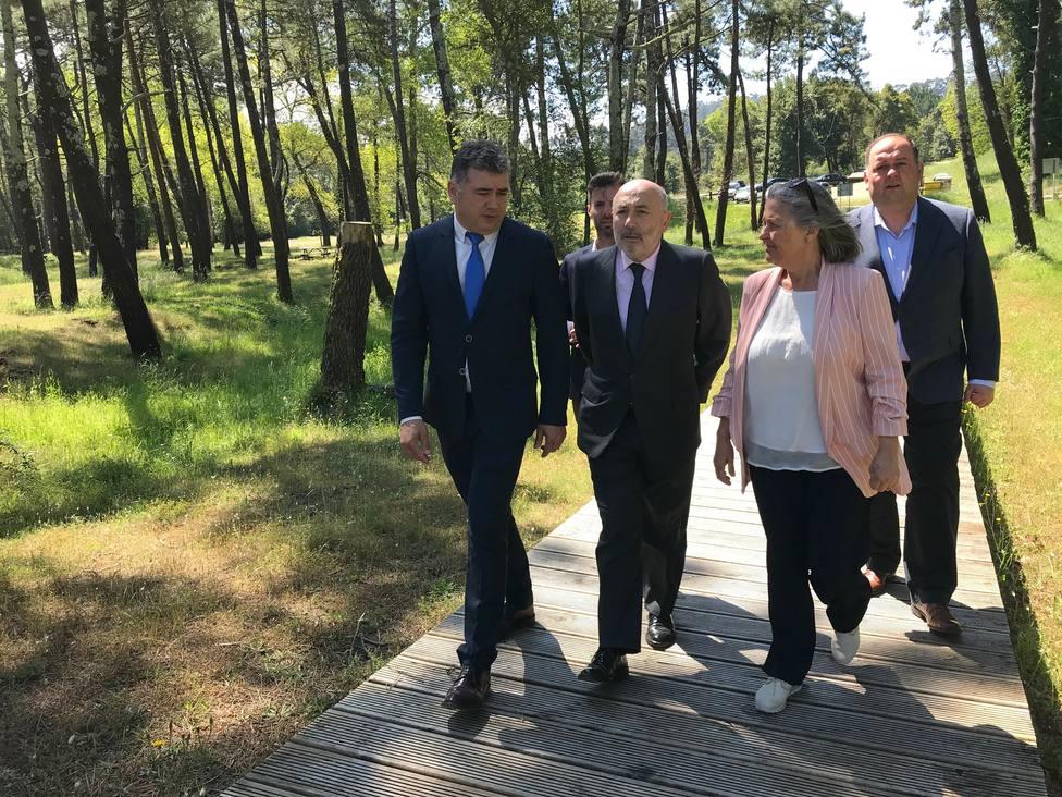 La visita tuvo lugar por el Pinar de Morouzos