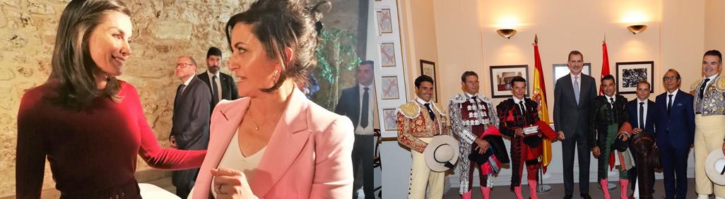Concha Andreu con la Reina Letizia y Diego Urdiales con el Rey Felipe VI