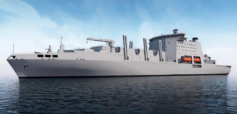 Rereación virtual de tipo de buque que licita la Royal Navy