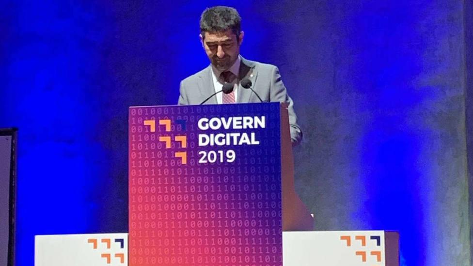 El conseller de Políticas Digitales y Administración Pública, Jordi Puigneró, en el acto de innauguración del Congrés Govern Digital 2019.