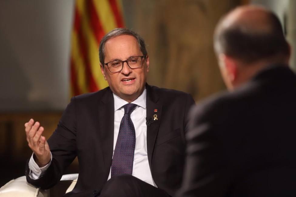 Torra descarta elecciones y garantiza que está muy a gusto en el Govern con ERC