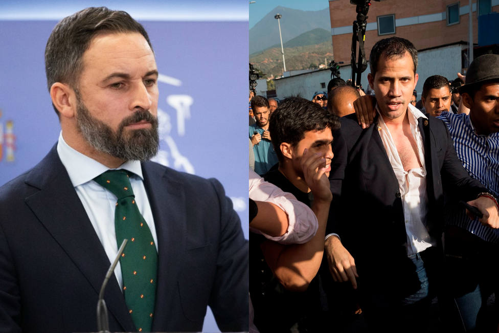 "Abascal apunta a ""los aliados de Sánchez, Zapatero e Iglesias"" como culpables de la agresión a Juan Guaidó"
