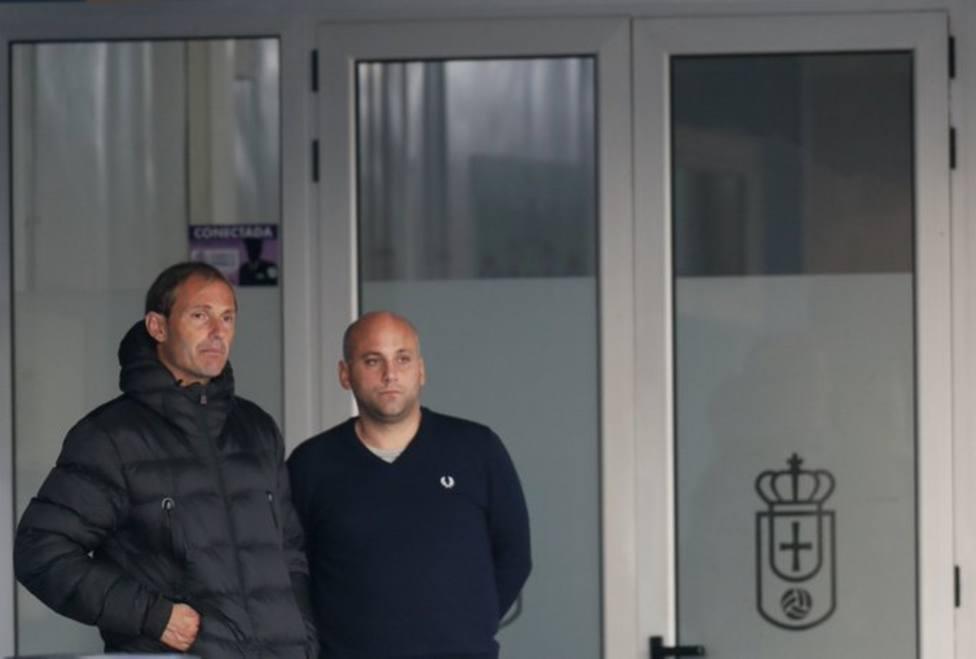 Arnau y Rozada, en las instalaciones de El Requexón tras la llegada del director deportivo.