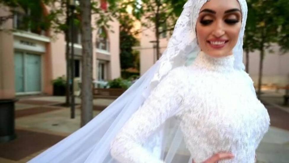 La explosión de Beirut arruinó la boda de esta pareja