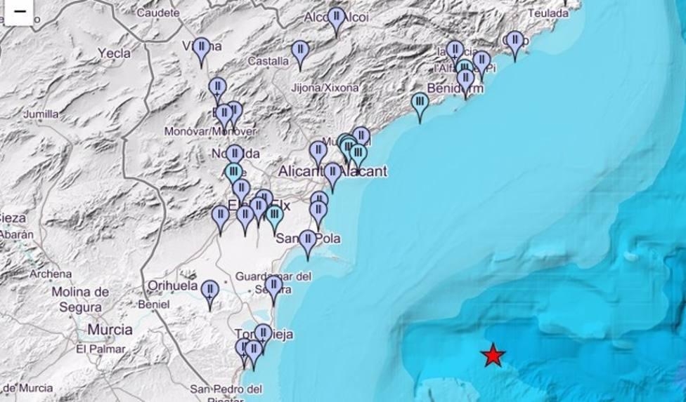Punto exacto donde se detectó el terremoto.