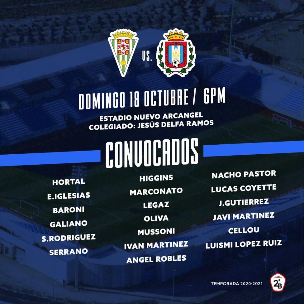 19 jugadores viajan a Córdoba para debutar ante el equipo blanquiverde