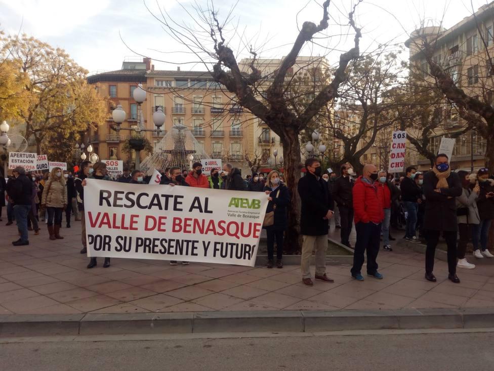 Manifestación Se vende Pirineo-Razón: Gobierno de Aragón