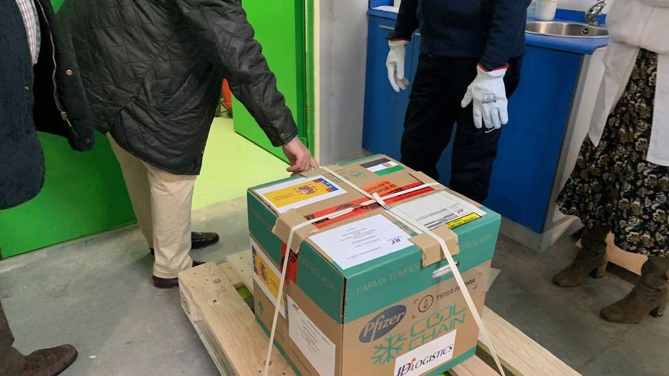 Vacunas que llegan a la Comunidad Autónoma de Extremadura. Foto: Delegación del Gobierno
