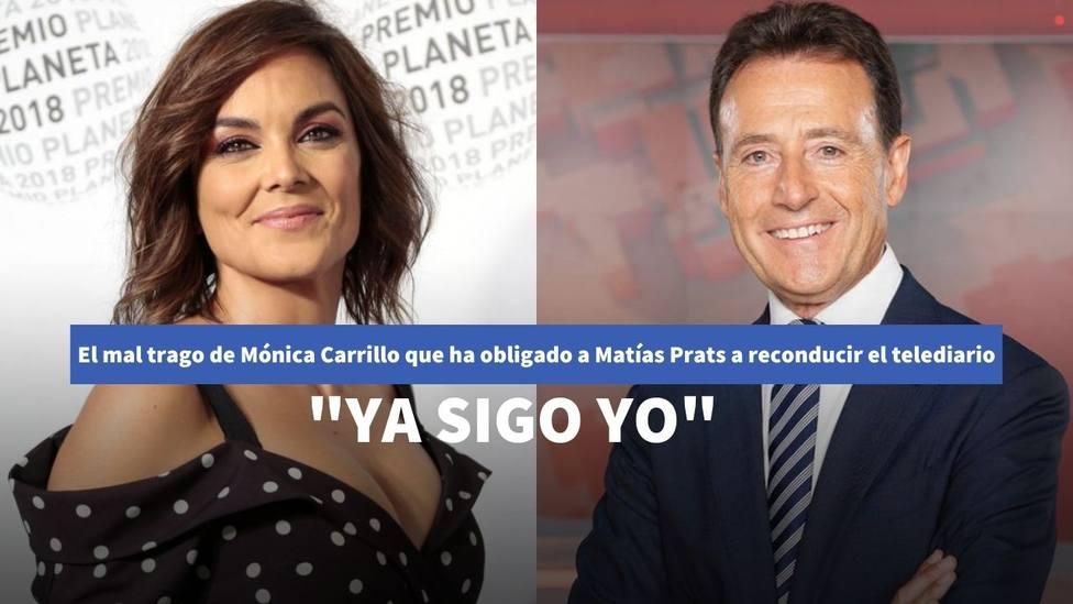 El mal trago de Mónica Carrillo que ha obligado a Matías Prats a reconducir el Informativo de Antena 3